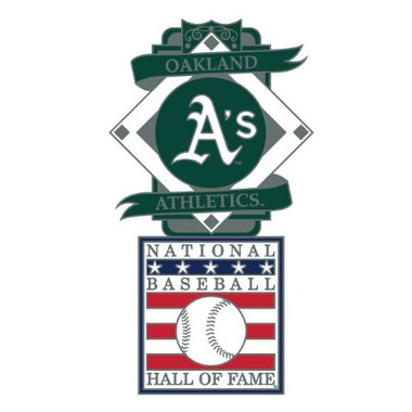 Oakland Athletics Baseball Hall of Fame Logo Exclusive Collector's Pin