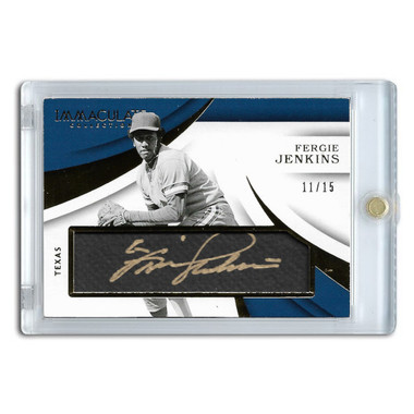 Fergie Jenkins Autographed Card 2018 Panini Immaculate Ltd Ed of 15
