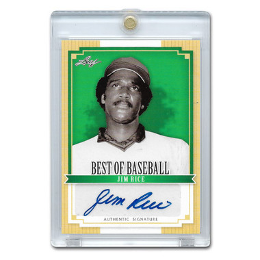 Jim Rice Autographed Card 2012 Leaf Baseball's Best # BA-JR1