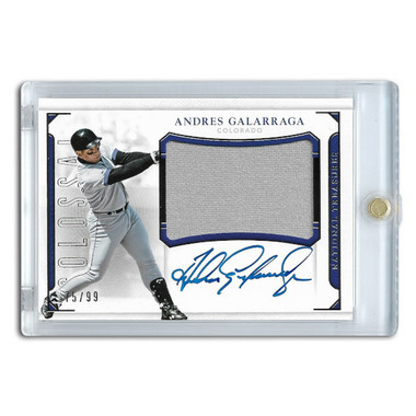 Andres Galarraga Autographed Card 2016 National Treasures Colossal Signatures Ltd Ed of 99