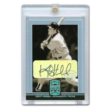 Kent Hrbek Autographed Card 2005 Donruss Greats Gold Holofoil Signatures