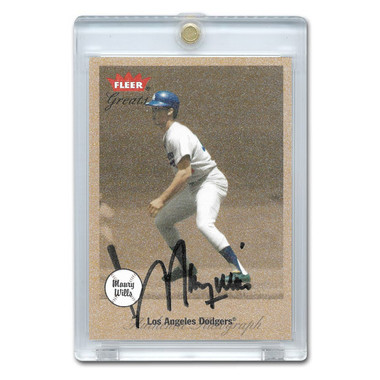 Maury Wills Autographed Card 2002 Fleer Greats of the Game