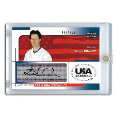 Steve Finley Autographed Card 2004 Upper Deck Team USA Ltd Ed of 360