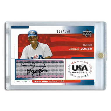 Jacque Jones Autographed Card 2004 Upper Deck Team USA Ltd Ed of 150