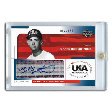 Brooks Kieschnick Autographed Card 2004 Upper Deck Team USA Ltd Ed of 120