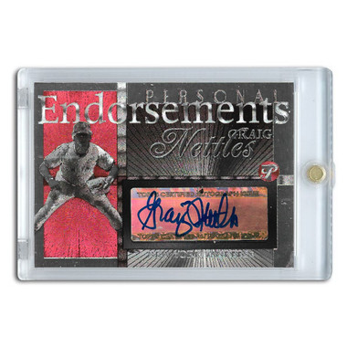 Graig Nettles Autographed Card 2005 Topps Pristine Personal Endorsements # GN