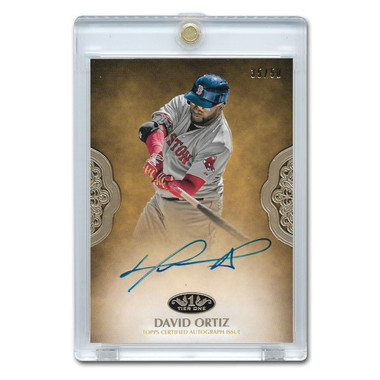 David Ortiz Autographed Card 2019 Topps Tier One Ltd Ed of 50