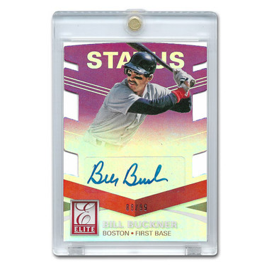 Bill Buckner Autographed Card 2015 Donruss Elite 21st Century Ltd Ed of 99