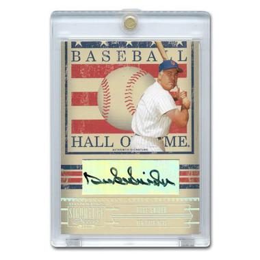Duke Snider Autographed Card 2005 Donruss Signature HOF # 20