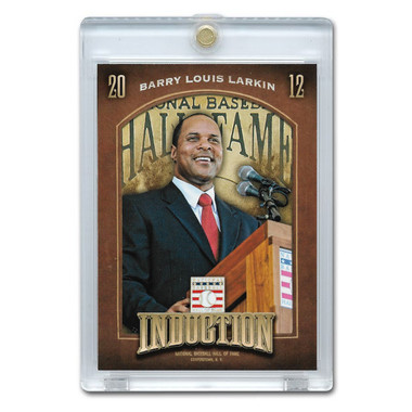 Barry Larkin 2013 Panini Cooperstown Induction Card # 12