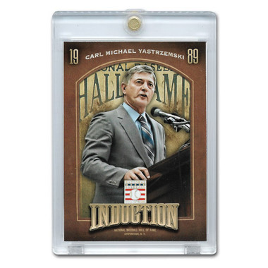 Carl Yastrzemski 2013 Panini Cooperstown Induction Card # 7