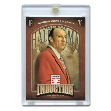 Warren Spahn 2013 Panini Cooperstown Induction Card # 13