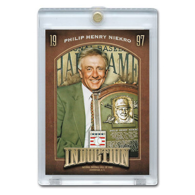 Phil Niekro 2013 Panini Cooperstown Induction Card # 3