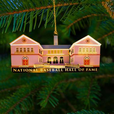 Baseball Hall of Fame Brass Building Ornament
