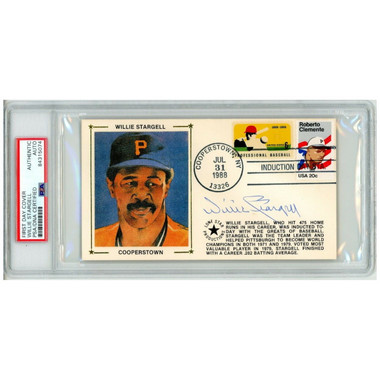 Willie Stargell Autographed First Day Cover - 1988 Hall of Fame Induction (PSA)