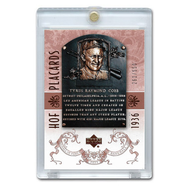 Ty Cobb 2005 Upper Deck Hall of Fame Placards # 99 Ltd Ed of 550
