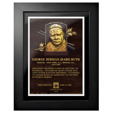 Babe Ruth Baseball Hall of Fame 18 x 14 Framed Plaque Art