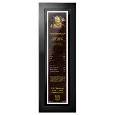 Babe Ruth Baseball Hall of Fame 24 x 8 Framed Plaque Art