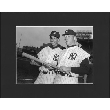 Matted 8x10 Photo- Mickey Mantle and Billy Martin