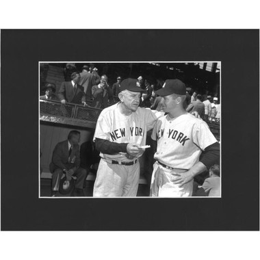 Matted 8x10 Photo- Casey Stengel and Whitey Ford