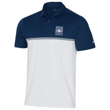 Men's Under Armour Baseball Hall of Fame Color Blocked Navy and White Gameday Polo