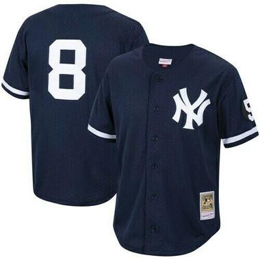 Men's Mitchell & Ness Yogi Berra 1999 New York Yankees Batting Practice Cooperstown Jersey