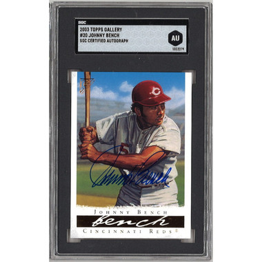 Johnny Bench Autographed Card 2003 Topps Gallery # 20 (SGC)
