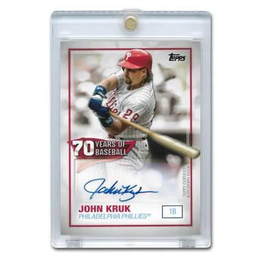 John Kruk Autographed Card 2021 Topps 70 Years of Baseball # JK
