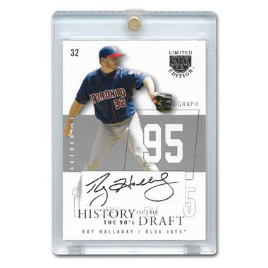 Roy Halladay Autographed Card 2004 Skybox History of the Draft Ltd Ed of 50