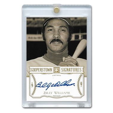 Billy Wiiliams Autographed Card 2013 Panini Cooperstown Signatures Ltd Ed 330