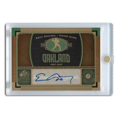 Eric Chavez Autographed Card 2012 Upper Deck SP Signature Edition #OAK1