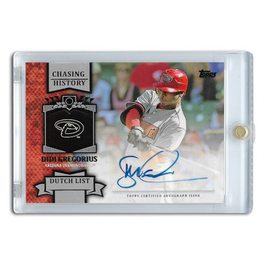 Didi Gregorius Autographed Card 2013 Topps Chasing History # CHA-DG