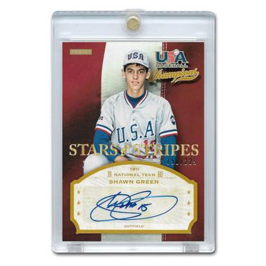 Shawn Green Autographed Card 2013 Panini USA Stars & Stripes Signatures Ltd Ed of 229