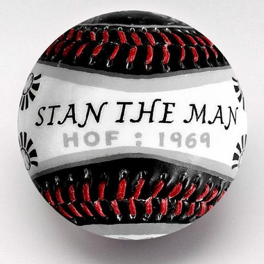 Stan Musial G.O.A.T. Unforgettaballs Limited Commemorative Baseball with Lucite Gift Box