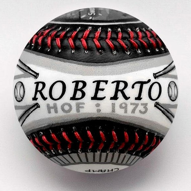 Roberto Clemente G.O.A.T. Unforgettaballs Limited Commemorative Baseball with Lucite Gift Box