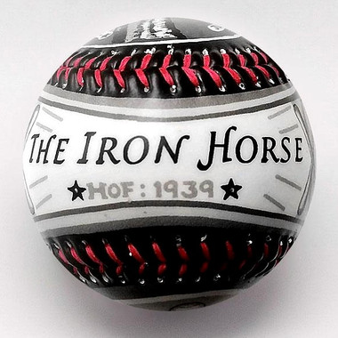 Lou Gehrig G.O.A.T. Unforgettaballs Limited Commemorative Baseball with Lucite Gift Box