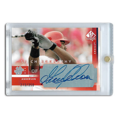 Garret Anderson Autographed Card 2003 SP Authentic Chirography Ltd Ed of 350