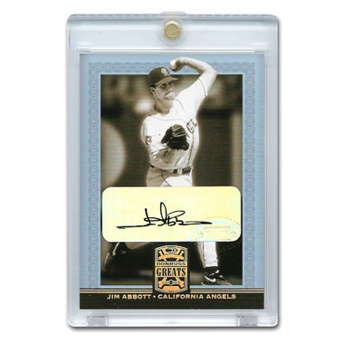 Jim Abbott Autographed Card 2005 Donruss Greats Gold Holofoil Signatures