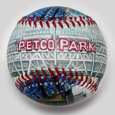 Petco Park Unforgettaballs Limited Commemorative Baseball with Lucite Gift Box