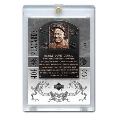 Lou Gehrig 2005 Upper Deck Hall of Fame Placards Silver # 91 Ltd Ed of 99