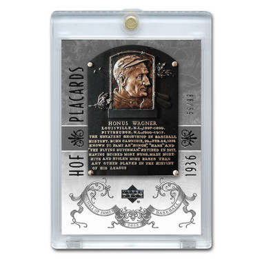 Honus Wagner 2005 Upper Deck Hall of Fame Placards Silver # 89 Ltd Ed of 99
