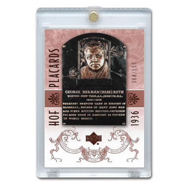 Babe Ruth 2005 Upper Deck Hall of Fame Placards # 86 Ltd Ed of 550