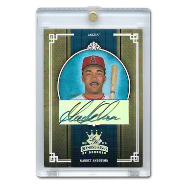 Garret Anderson Autographed Card 2005 Donruss Diamond Kings Crowning Moment Ltd Ed of 50