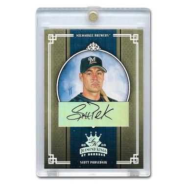Scott Podsednik Autographed Card 2005 Donruss Diamond Kings Crowning Moment Ltd Ed of 50