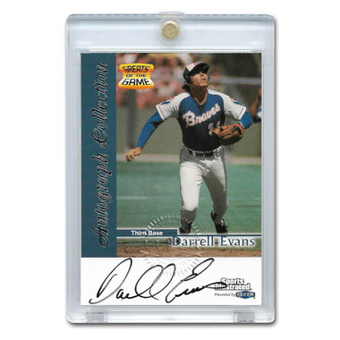Darrell Evans Autographed Card 1999 Fleer Sports Illustrated Greats
