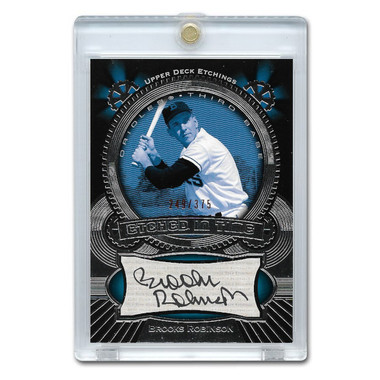 Brooks Robinson Autographed Card 2004 Upper Deck Etchings Ltd Ed of 375