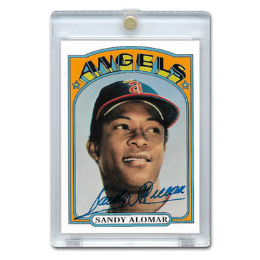 Sandy Alomar Autographed Card 2016 Topps Archives 65th Anniversary Ltd Ed of 99