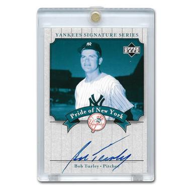 Bob Turley Autographed Card 2003 Upper Deck Yankees Signature Series #PN-BT