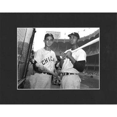 Matted 8x10 Photo- Luis Aparicio and Larry Doby