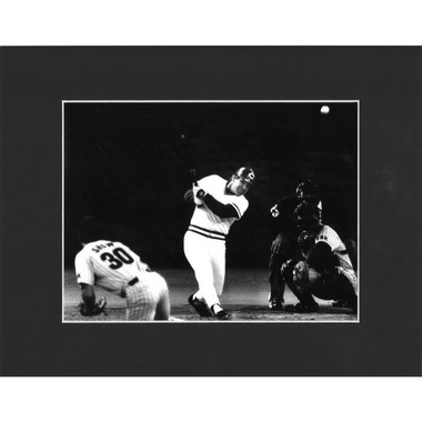 Matted 8x10 Photo- Pete Rose 4,192nd Hit